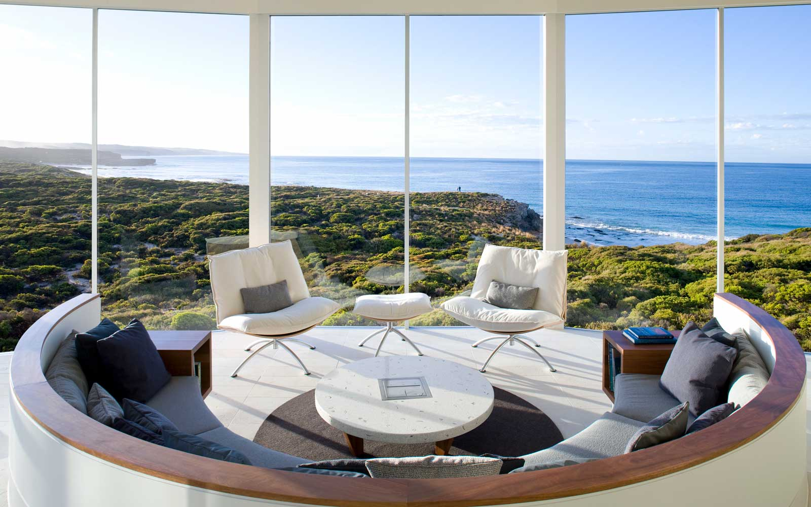 View from the spa at Southern Ocean Lodge, Kangaroo Island, Australia