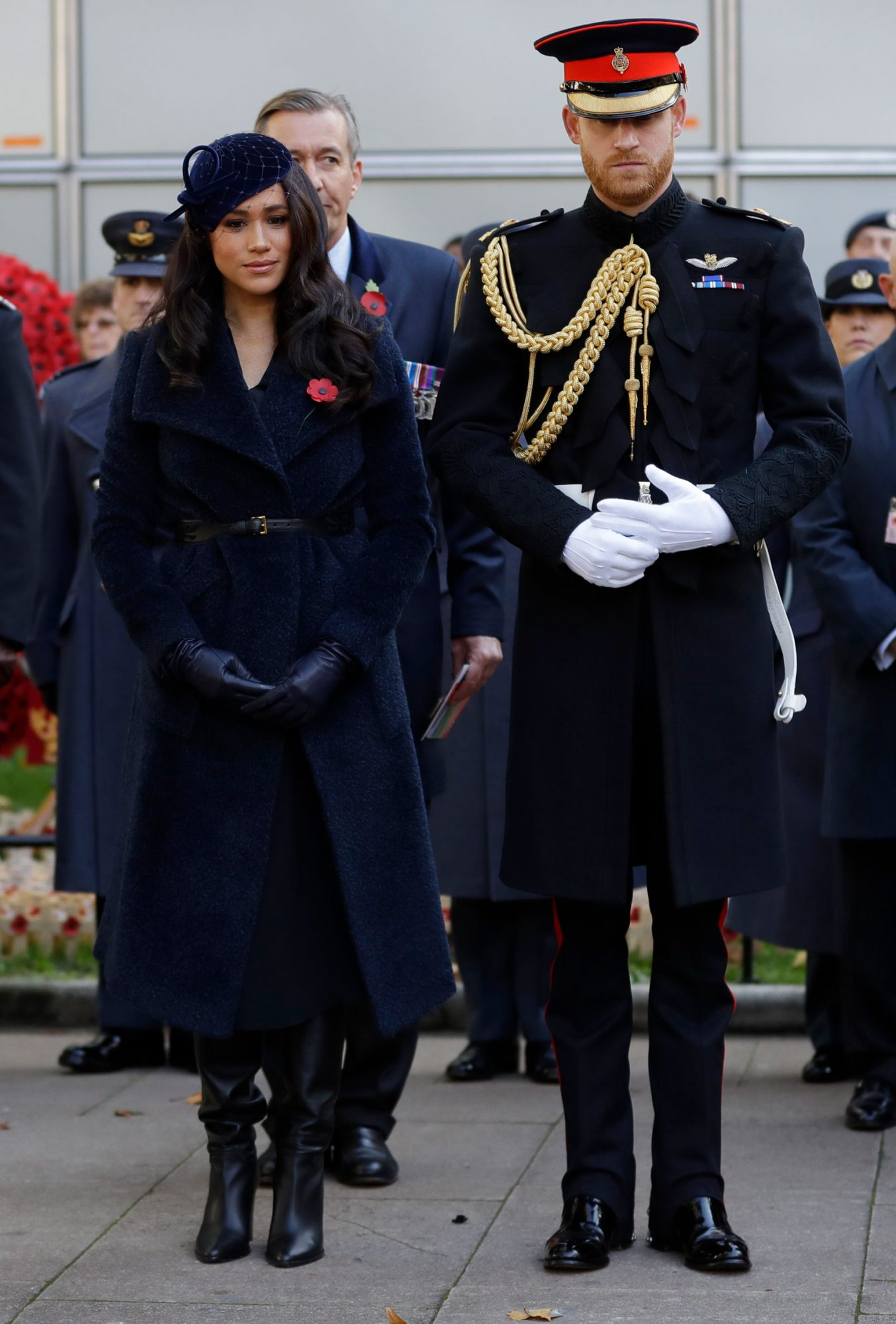 Meghan Markle and Prince Harry at The 91st Field Of Remembrance