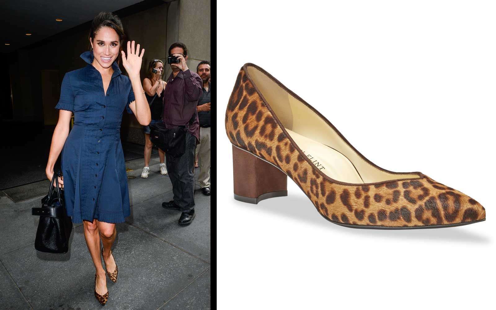 Meghan Markle Sarah Flint Perfect Emma Leopard Pump