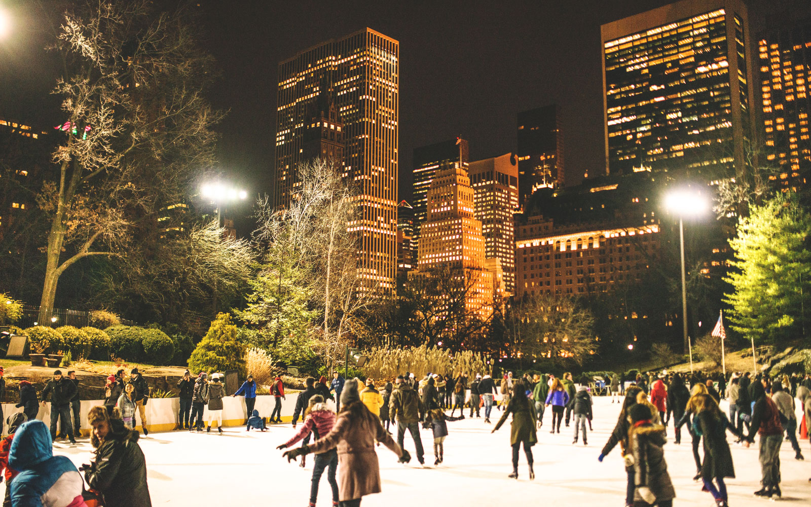 Ice Skating in Central Park