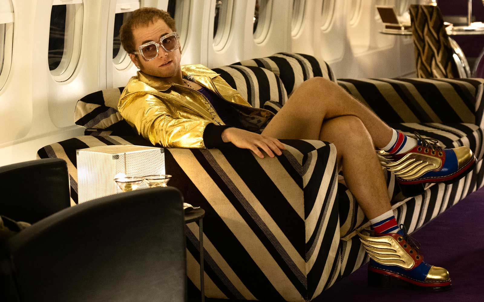 Taron Egerton in Rocketman from Paramount Pictures.