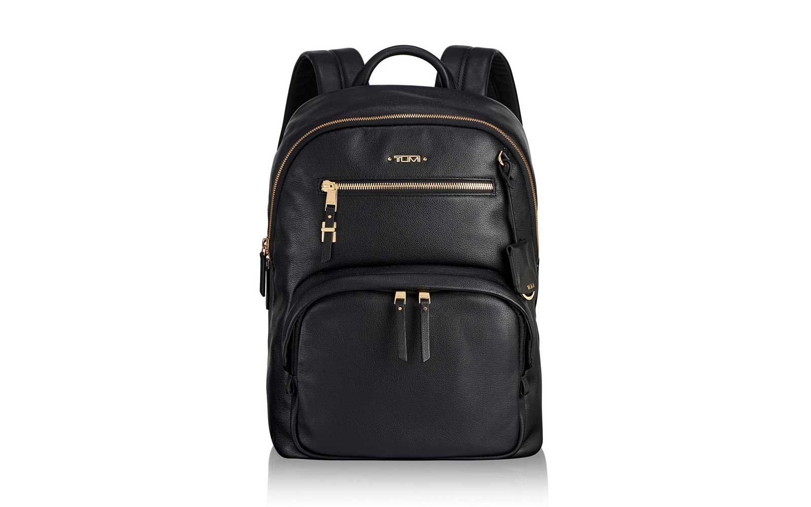 Tumi Black Leather Backpack