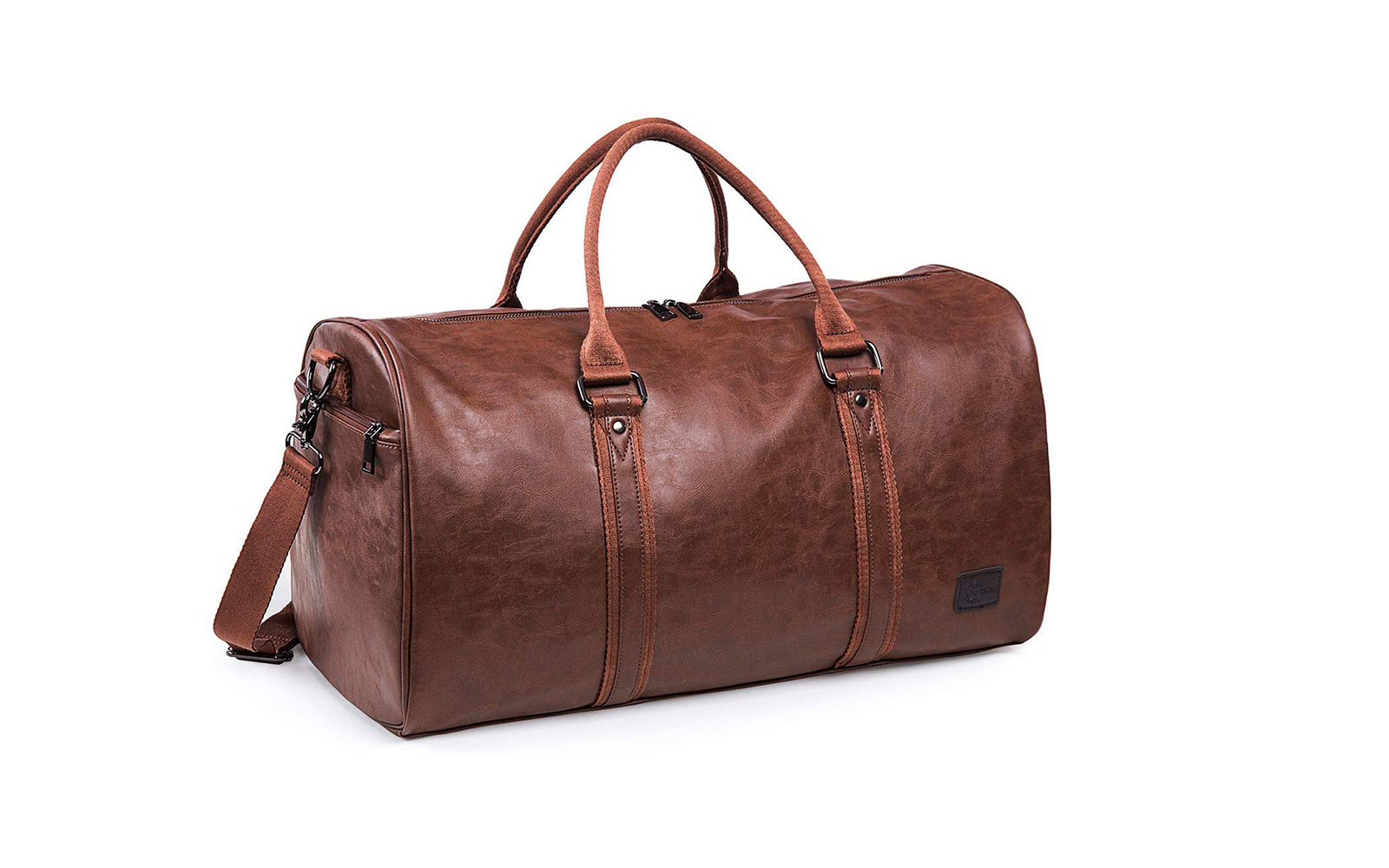 Amazon Leather Travel Bag with Shoe Pouch