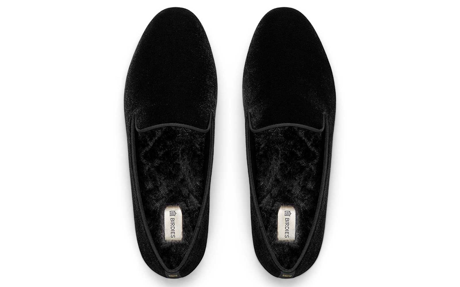 Black Velvet Slipper Flats
