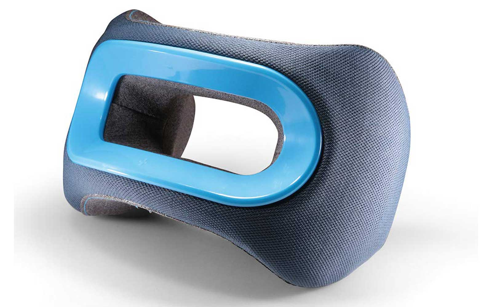 Blue Ergonomic Travel Pillow