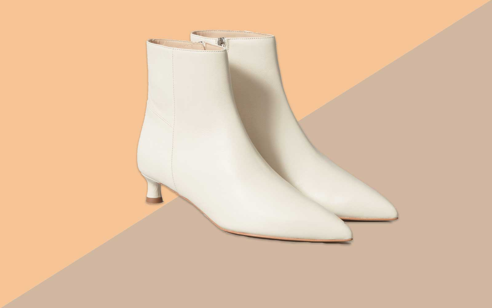 White Pointed Toe Boot