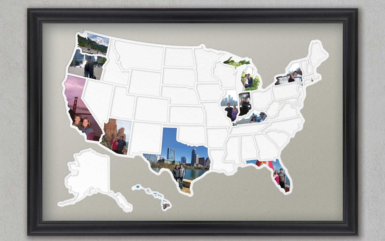Fifty States Photo Frame, Etsy
