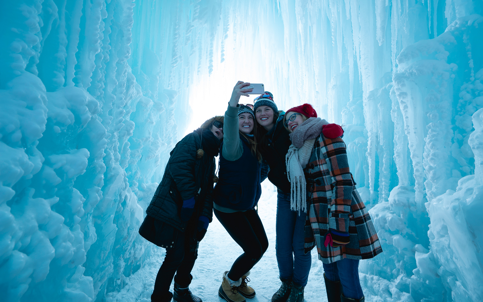 Friends at Ice Castle