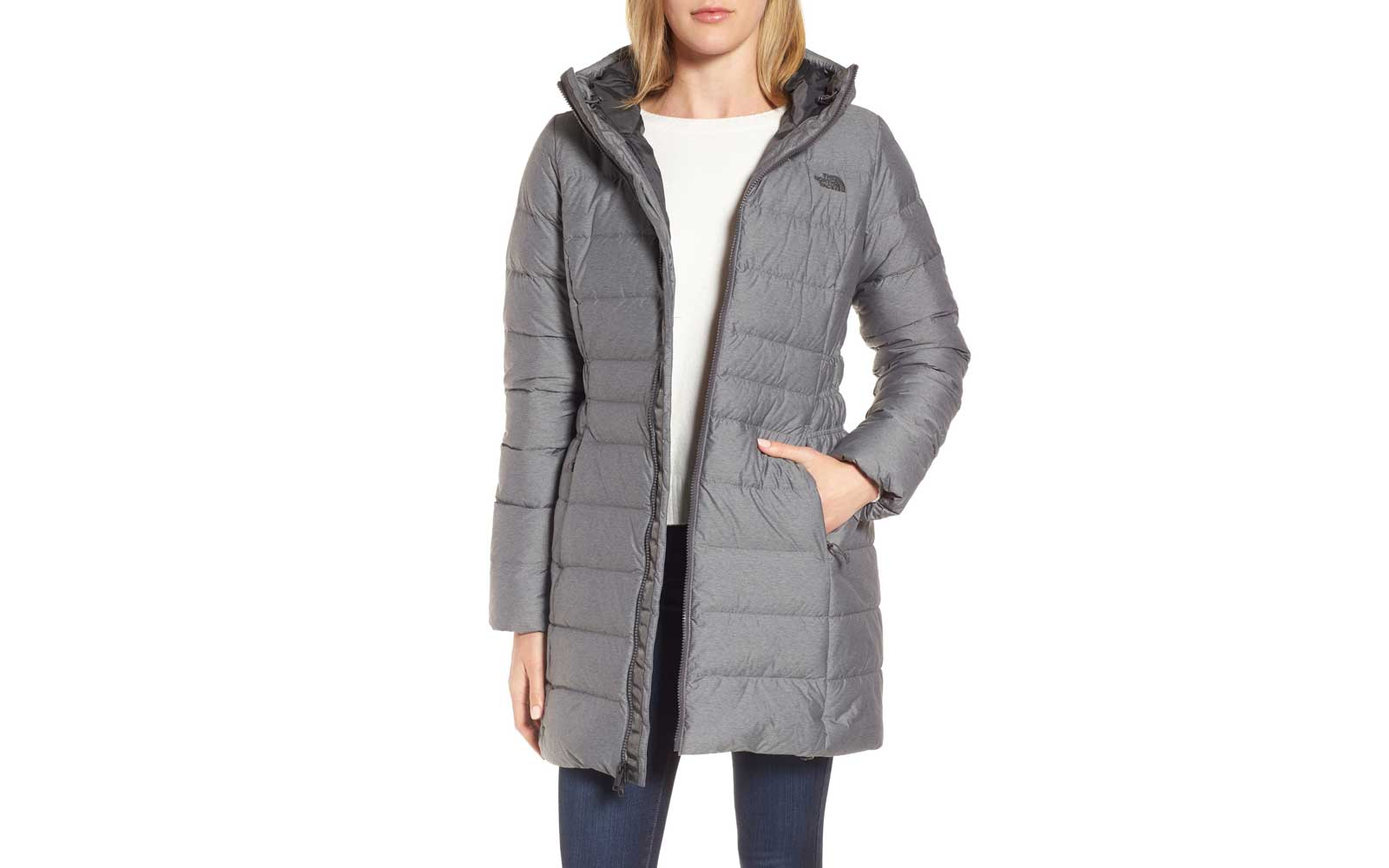 Grey North Face Women's Parka
