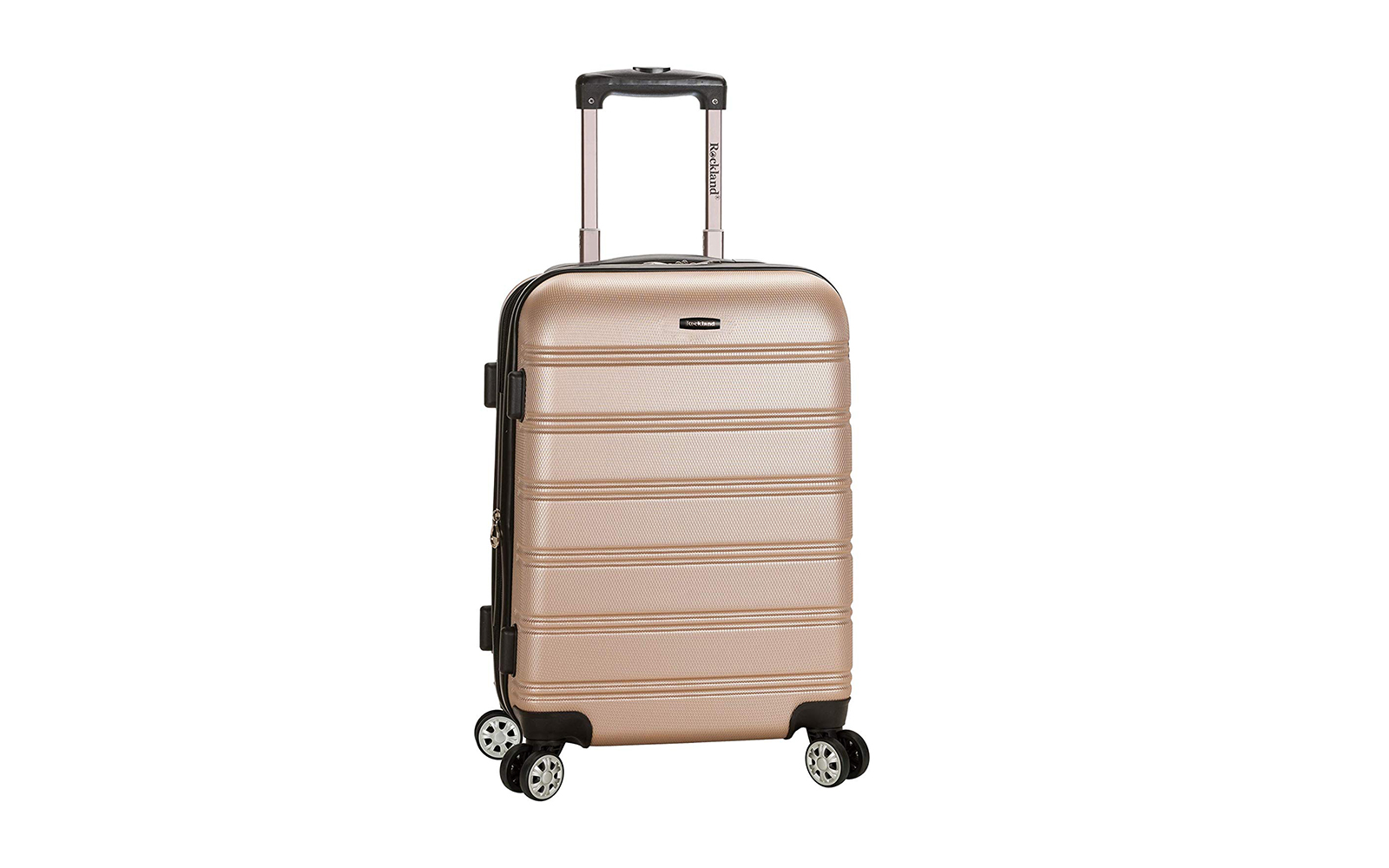 Rockland Luggage Melbourne 20 Inch Expandable Carry On, Champagne
