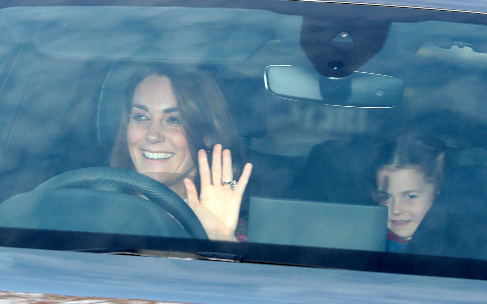 Kate Middleton and her daughter Princess Charlotte