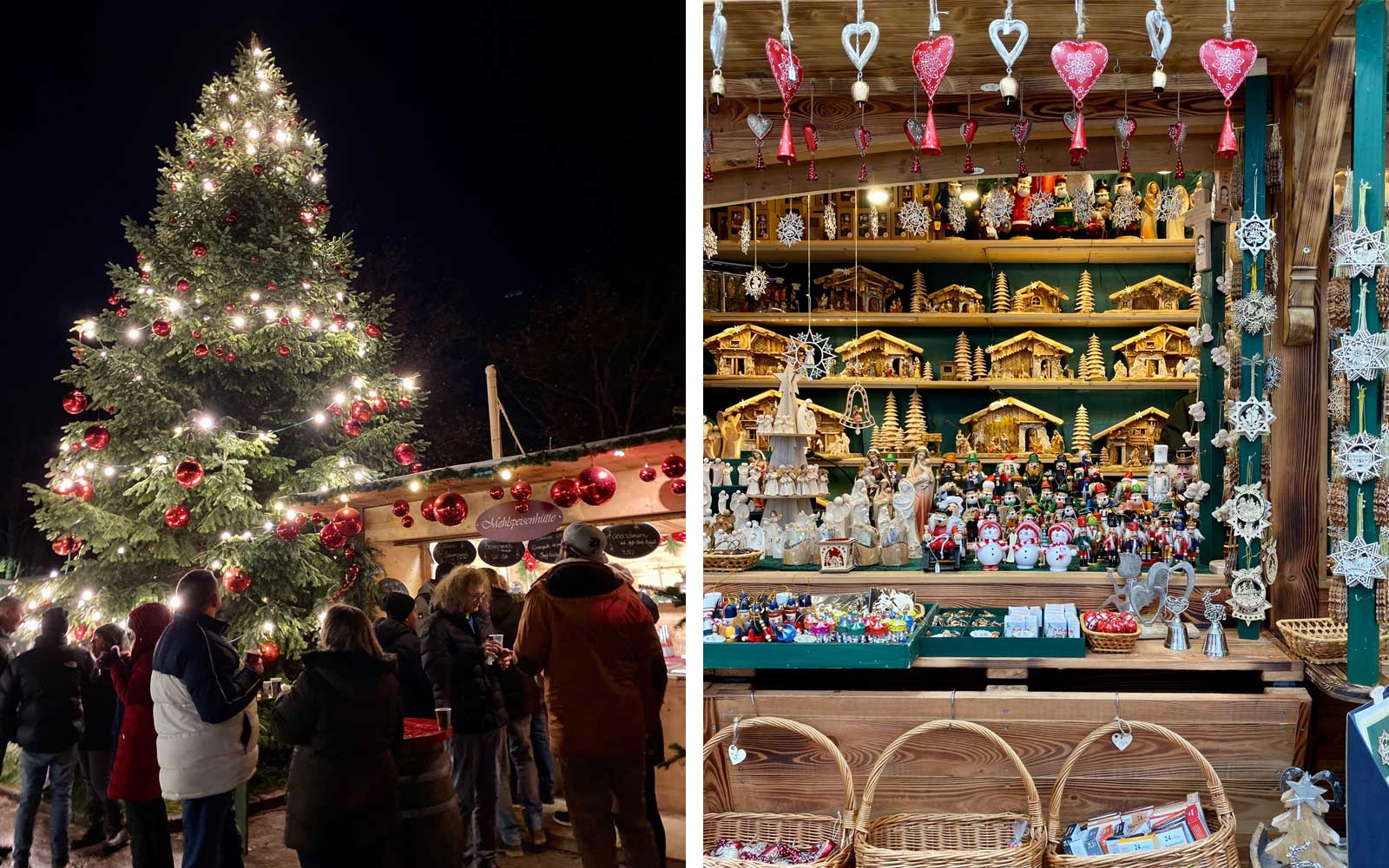 Views of the Christmas Market in Salzburg, Austria