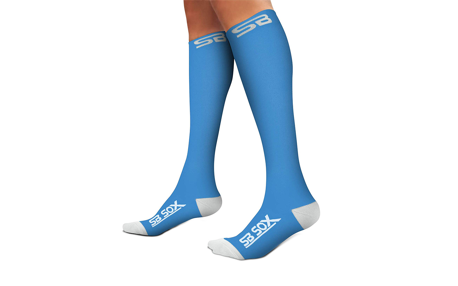 Amazon SB SOX Compression Socks blue and white