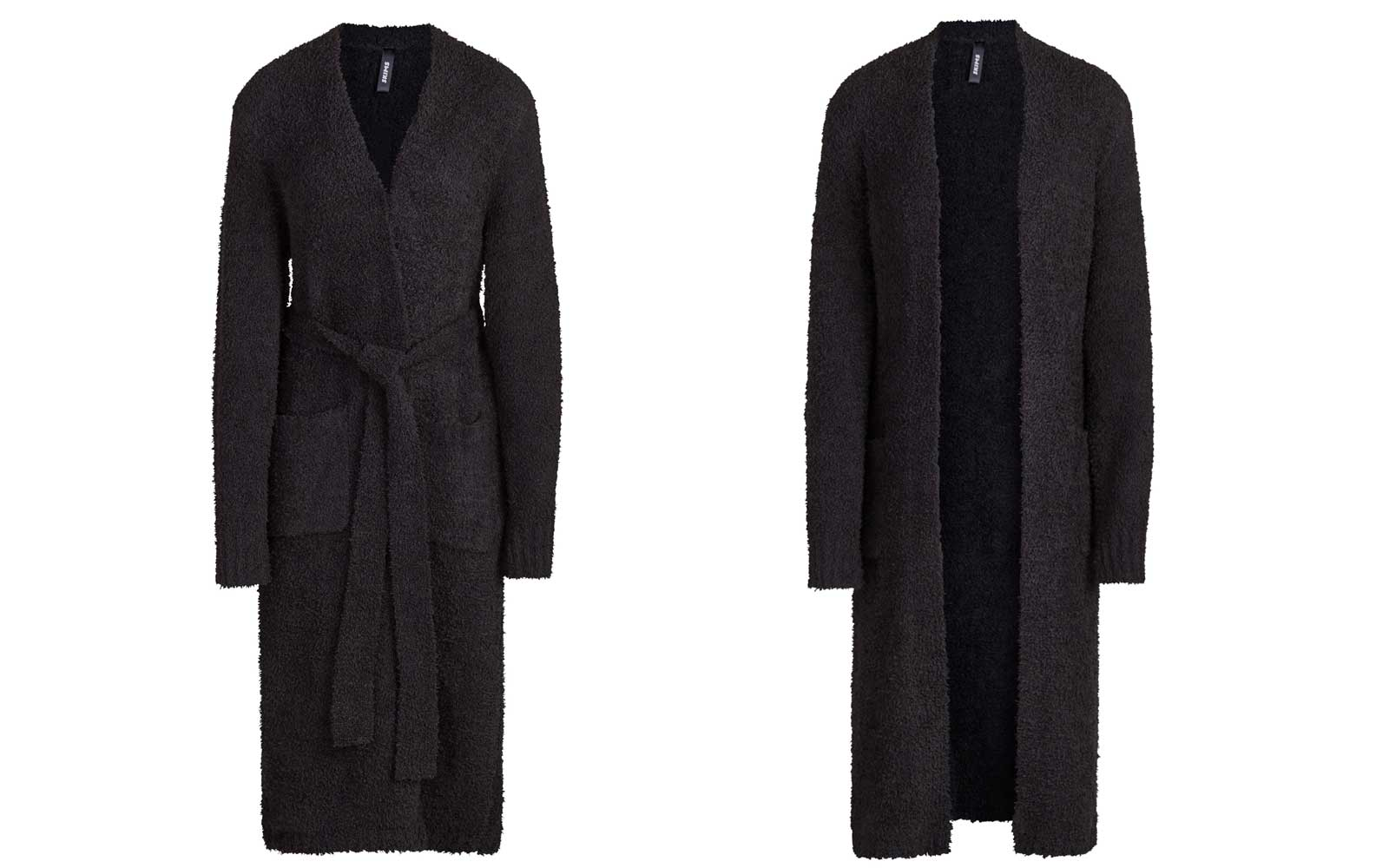 Black Knit Bathrobe