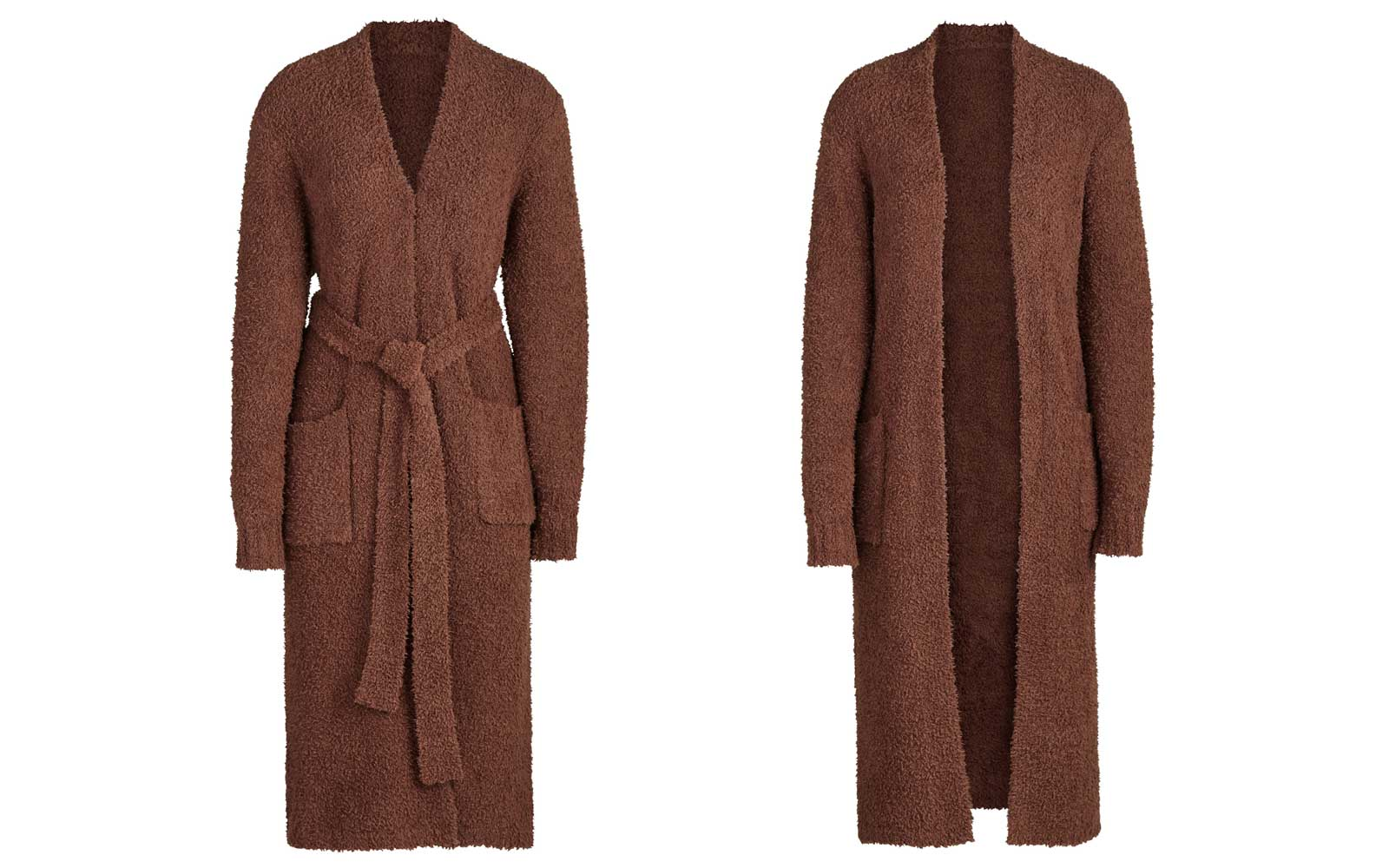 Brown Knit Bathrobe