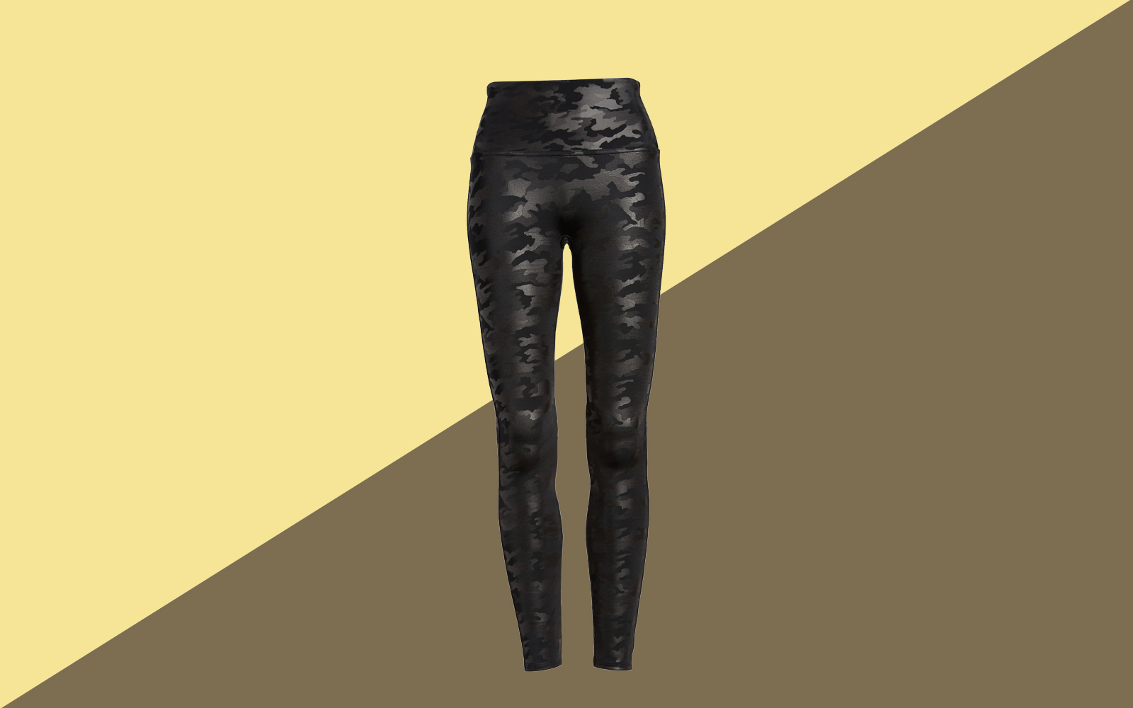 SPANX Camo Faux Leather Leggings Tout