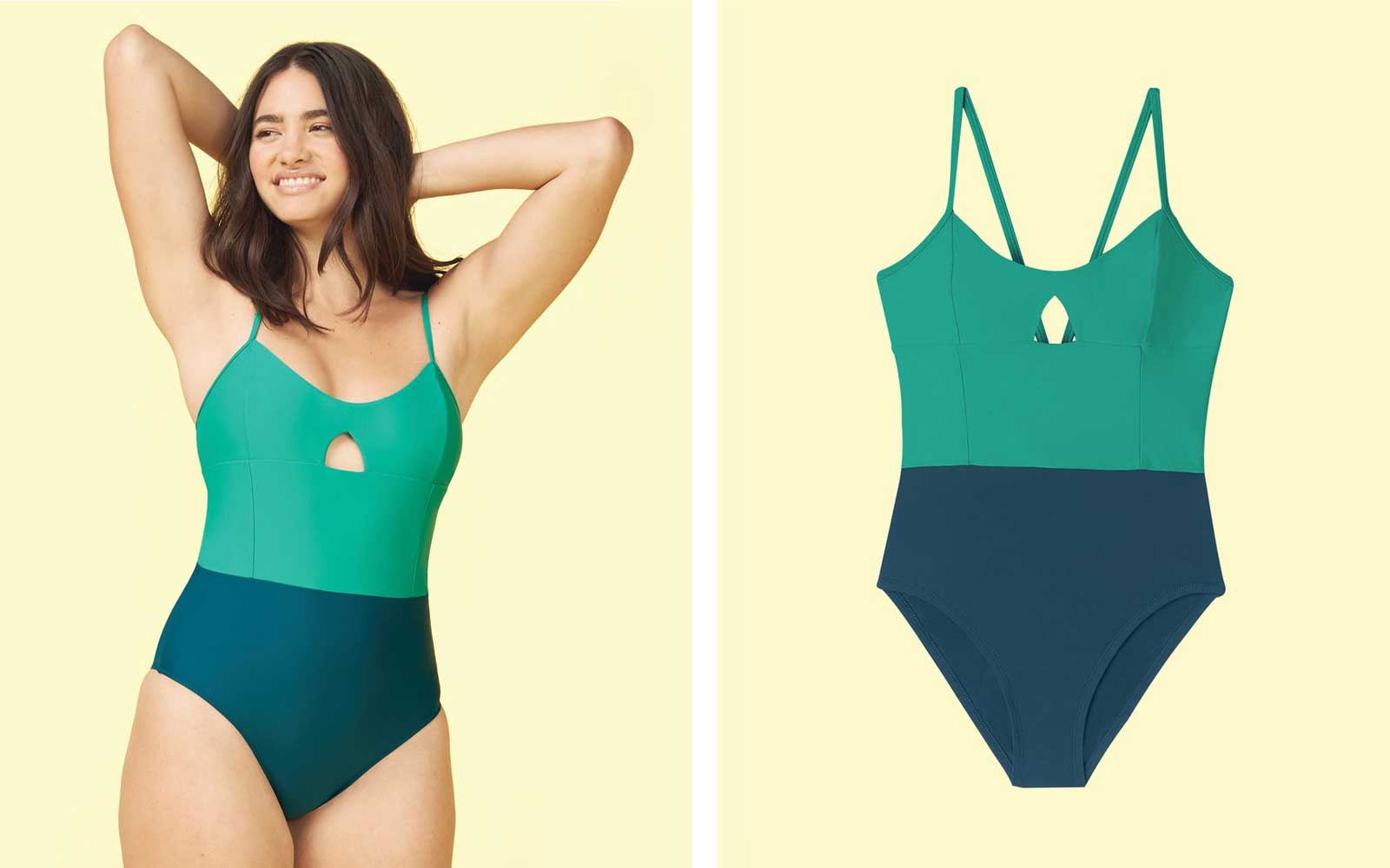 Summersalt Green and Blue One Piece Swimsuit