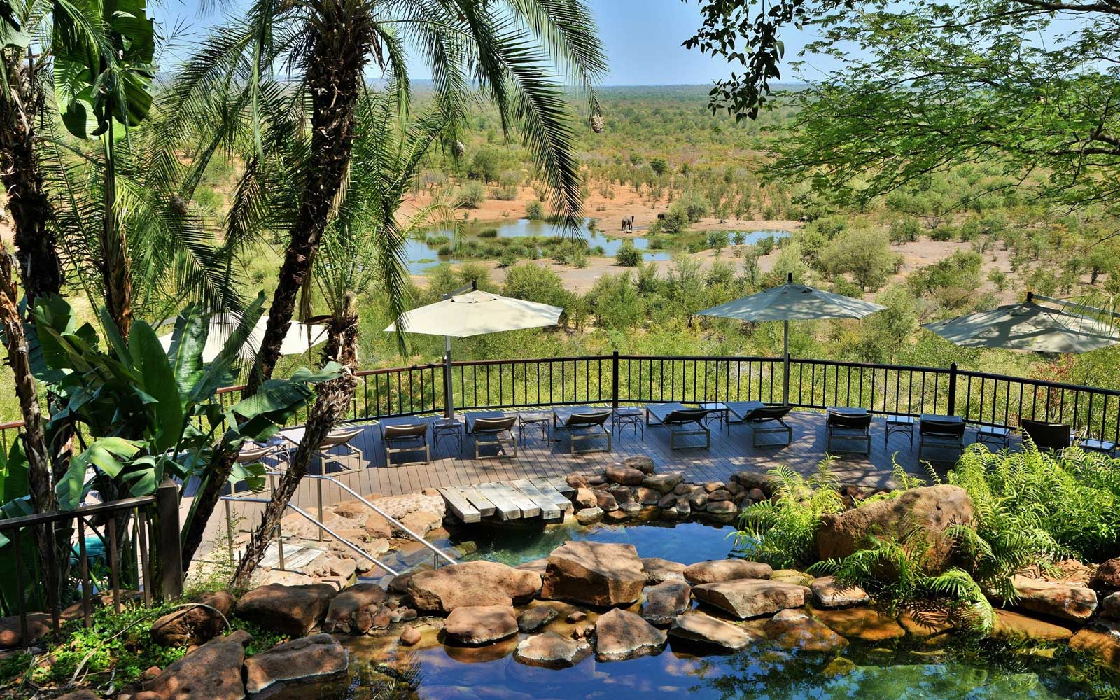 View from the Victoria Falls Safari Lodge