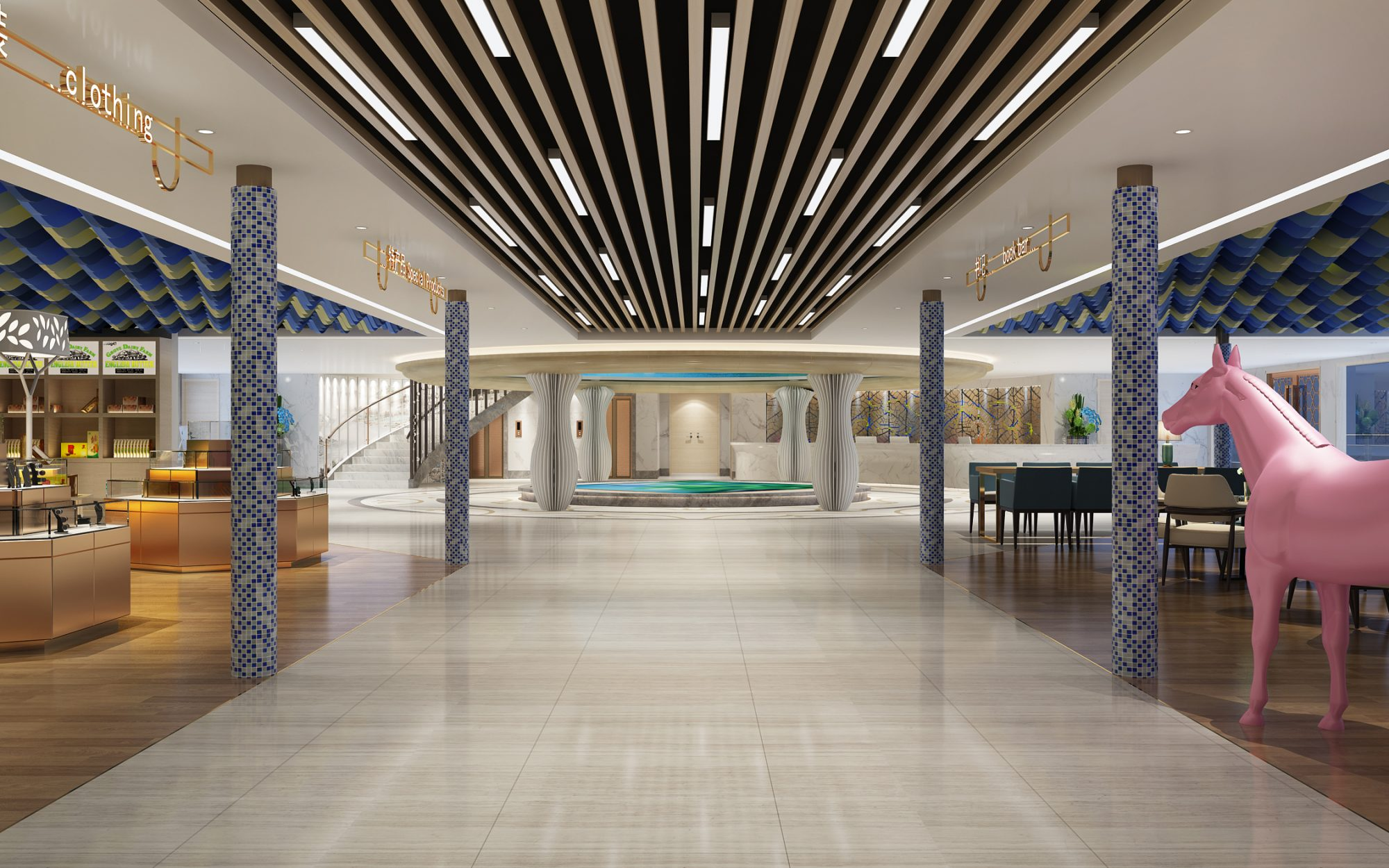 Rendering of the Victoria Sabrina lobby