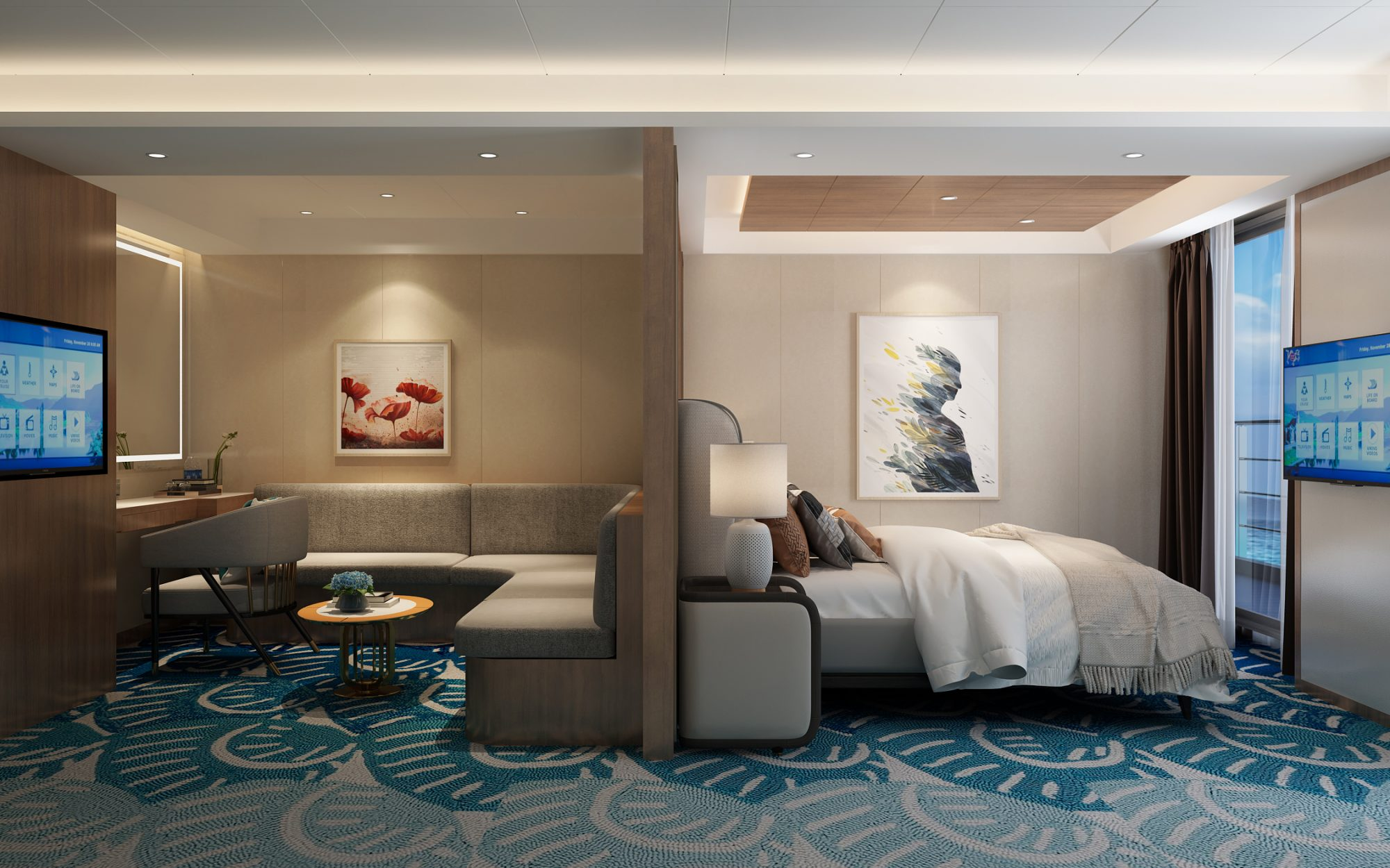 Rendering of the Victoria Sabrina Shangri-La suite