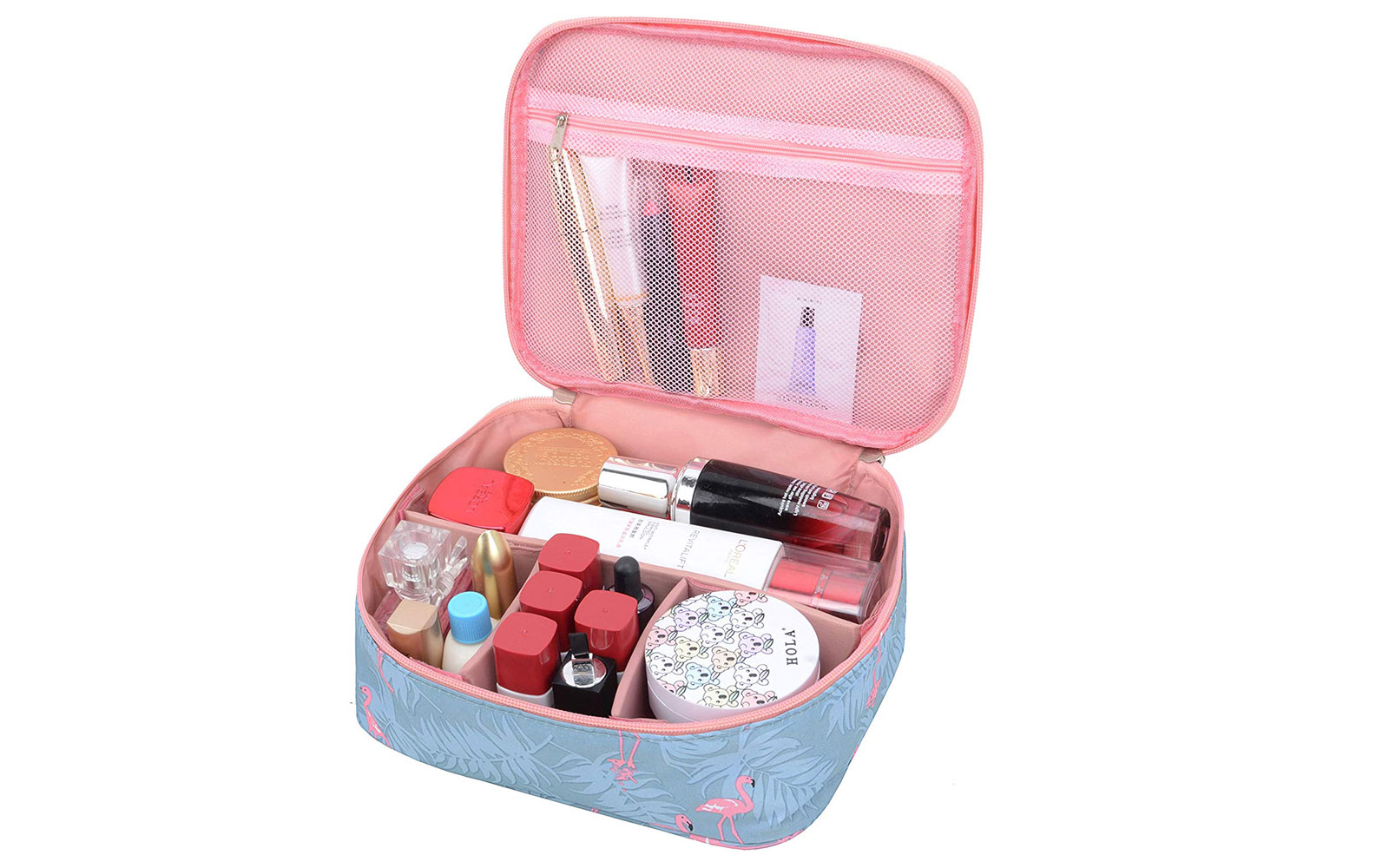 Pink and Blue Makeup Case