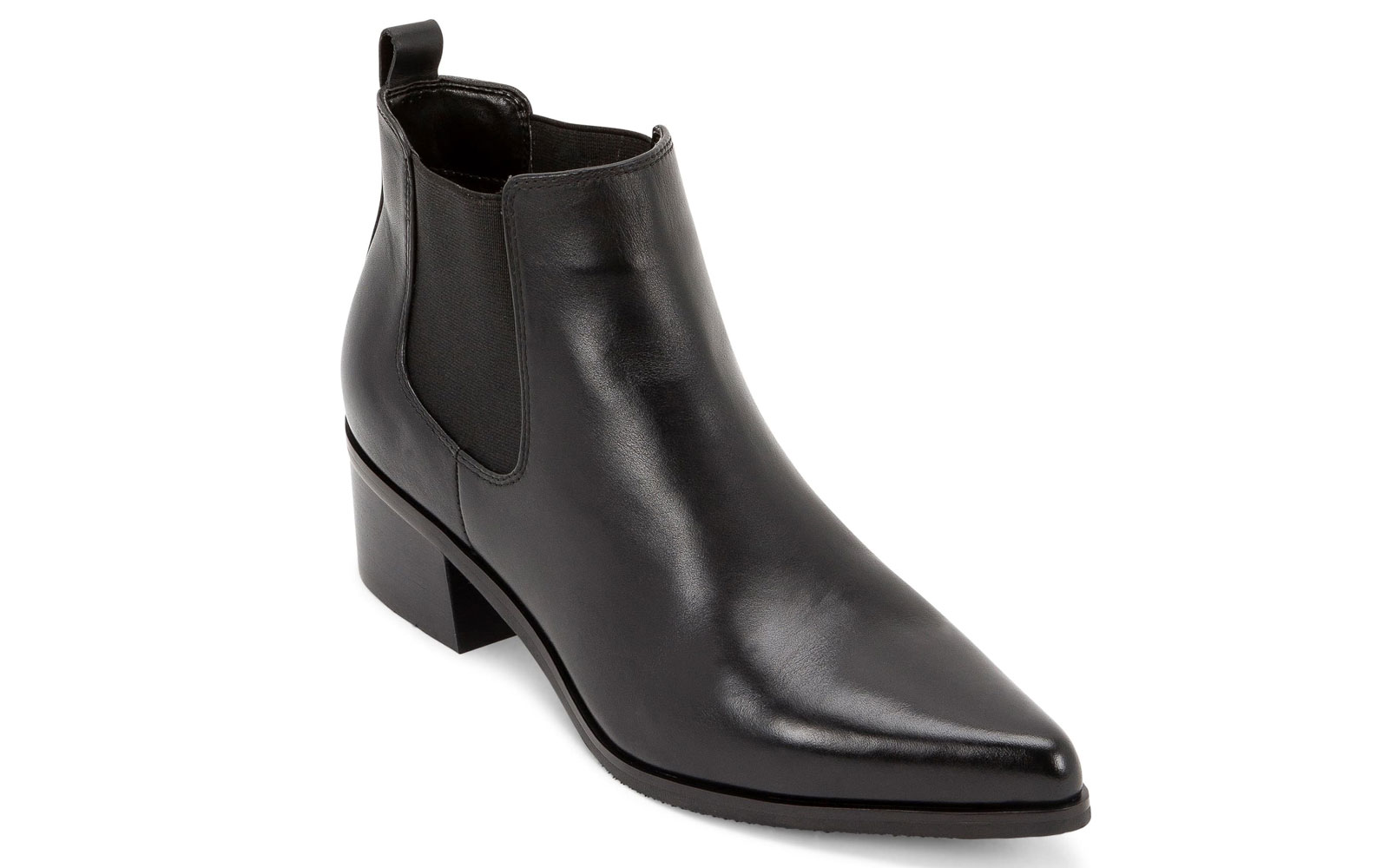 Women's Black Leather Chelsea Boot