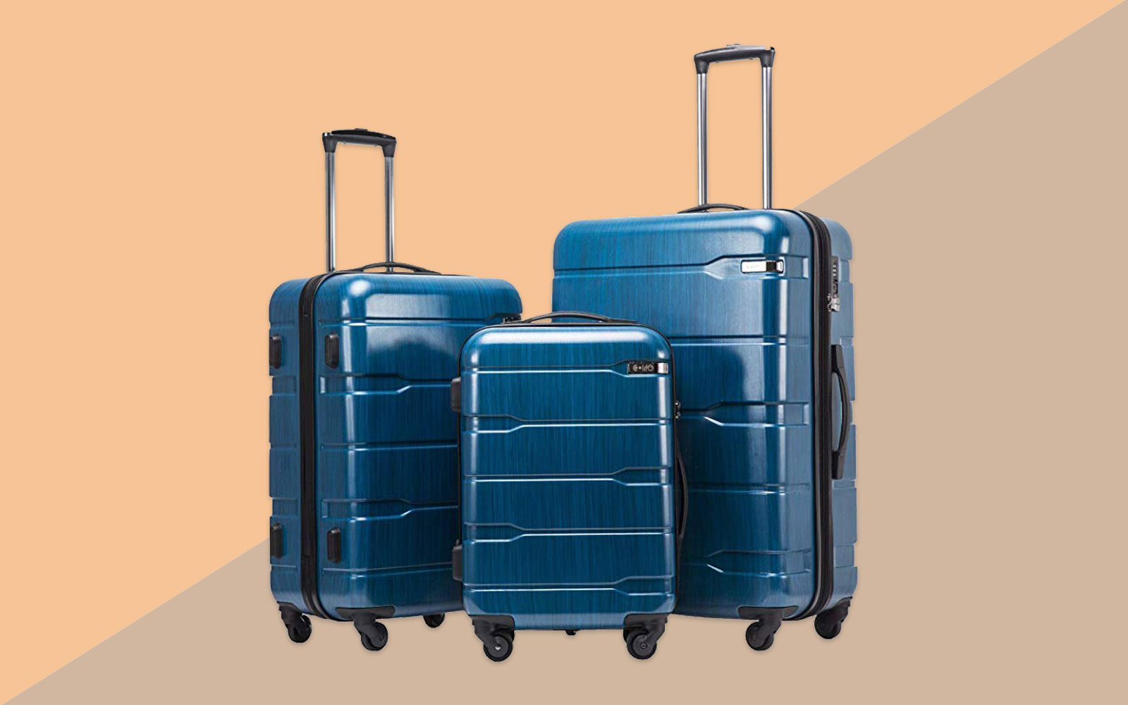Blue Hardside Expandable Luggage Set