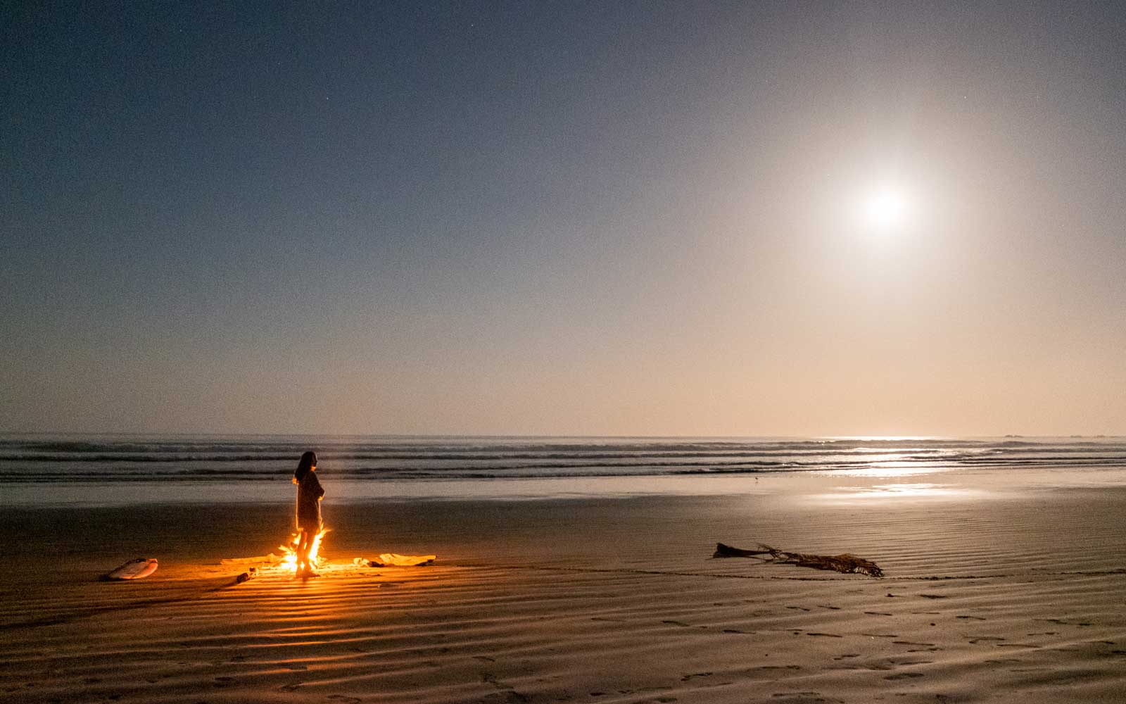 Full moon at Playa Guiones, Costa Rica