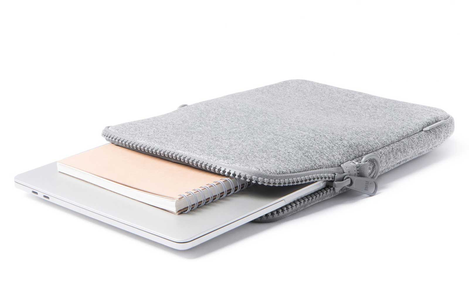 Light Grey Neoprene Laptop Sleeve