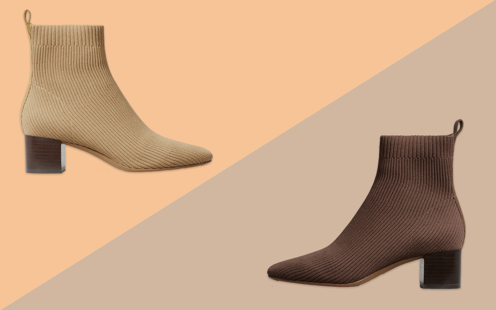 Everlane Tan and Brown Glove Boots