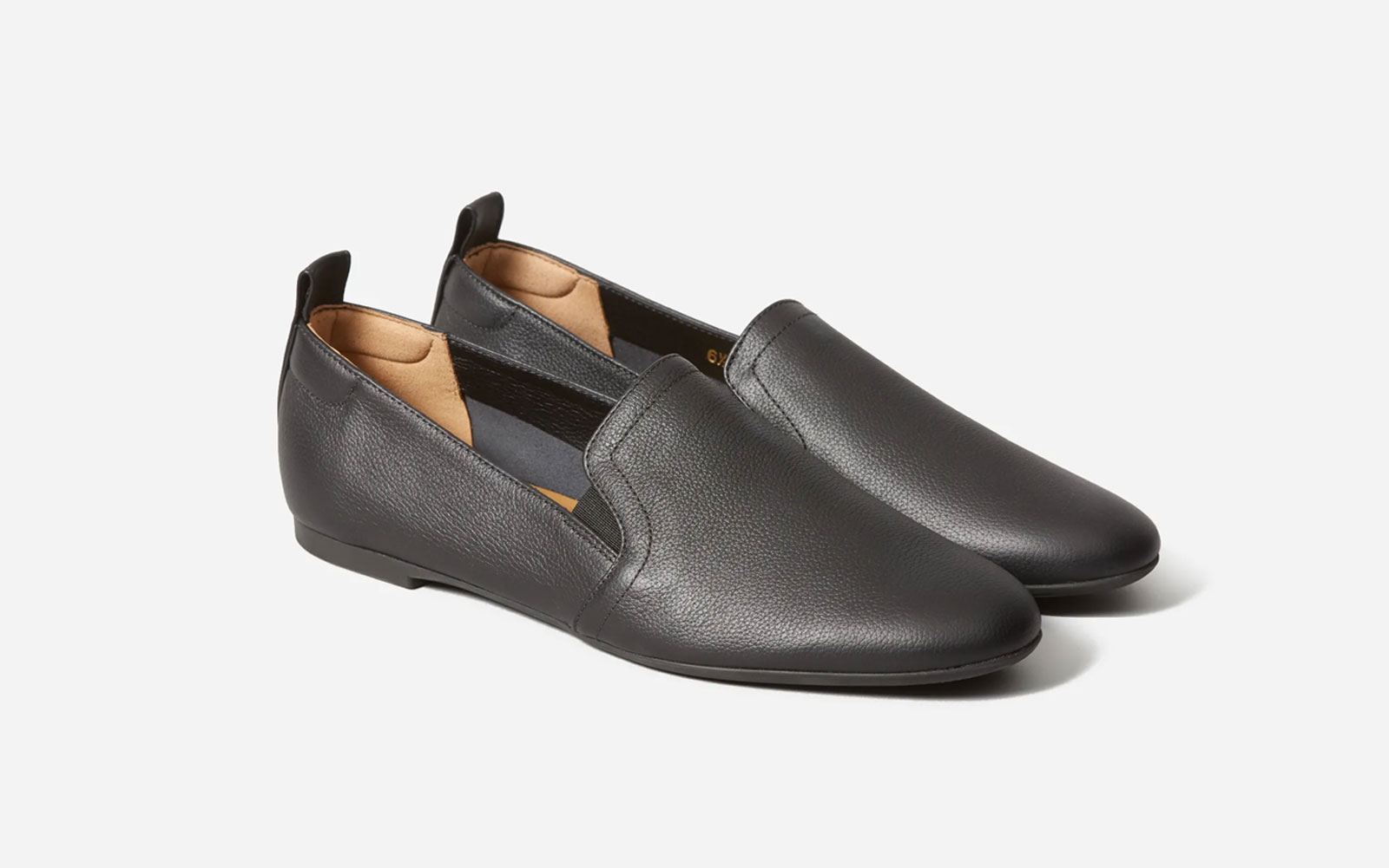 Black Leather Slip-on Loafers