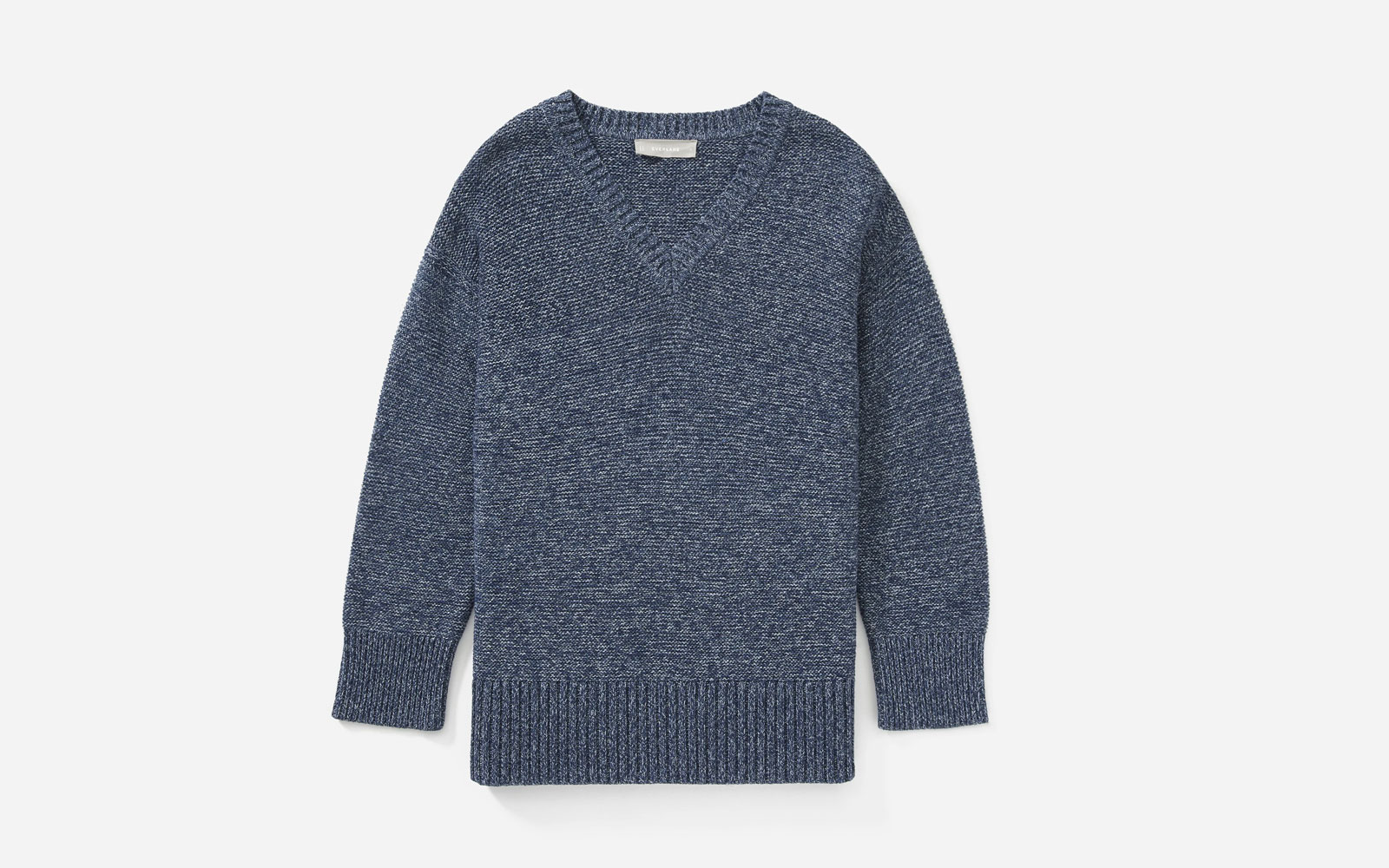 Dark Blue V-neck Sweater