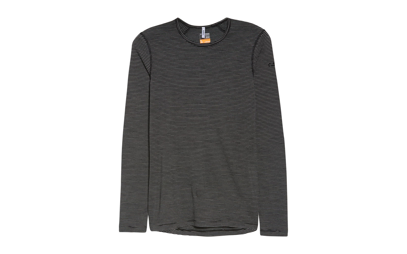 Black and Grey Striped Longsleeve T-shirt