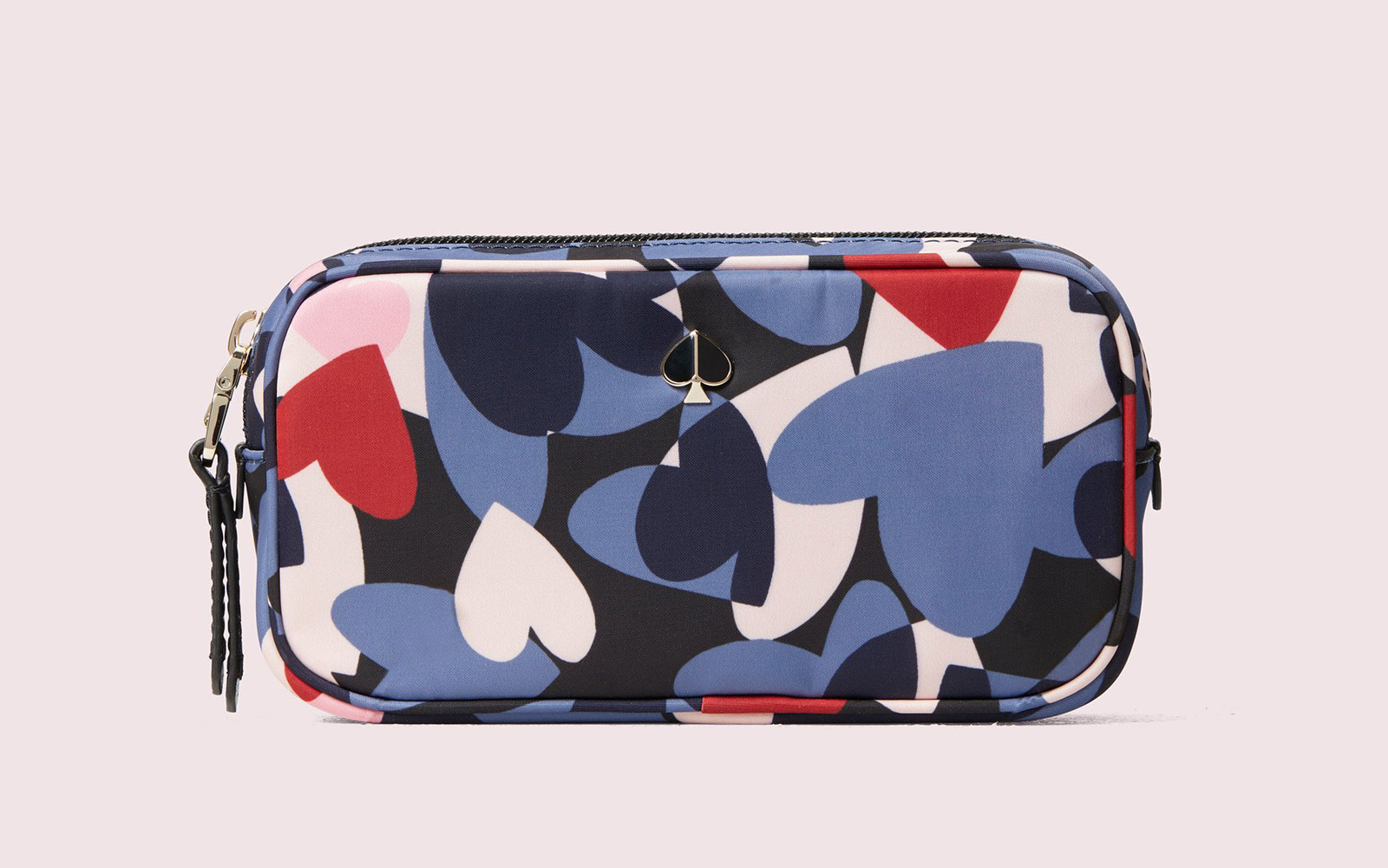 Multi-colored Heart Patterned Makeup Bag