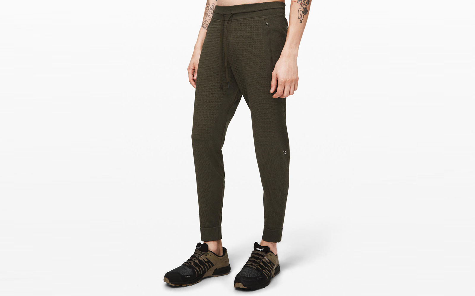 Dark Green Men's Jogger Sweatpants