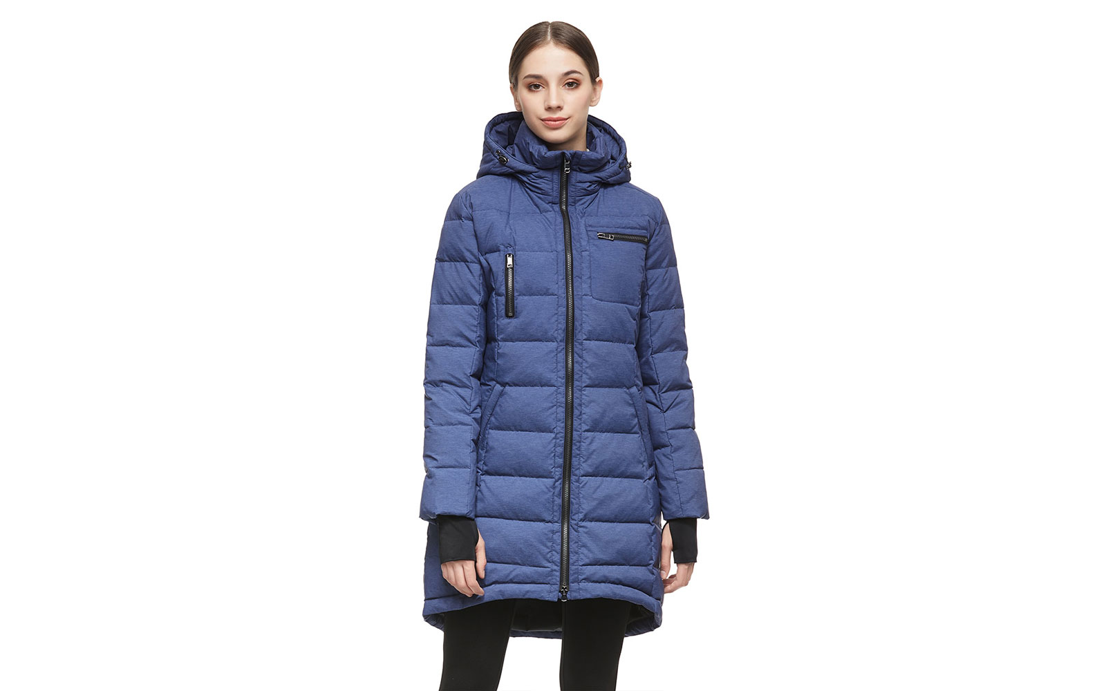 Women's Blue Long Parka