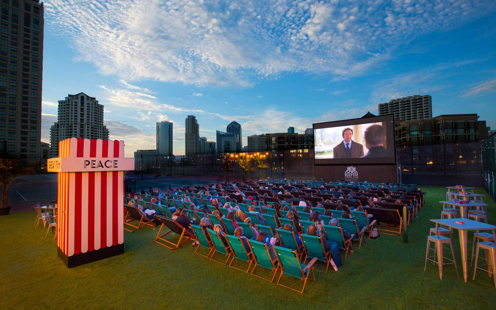 Rooftop Cinema Club screening at Manchester Grand Hyatt in San Diego