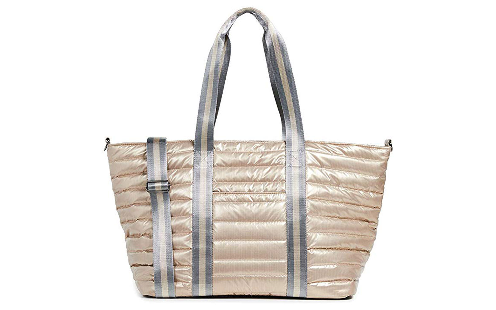 Champagne and Silver Quilted Tote