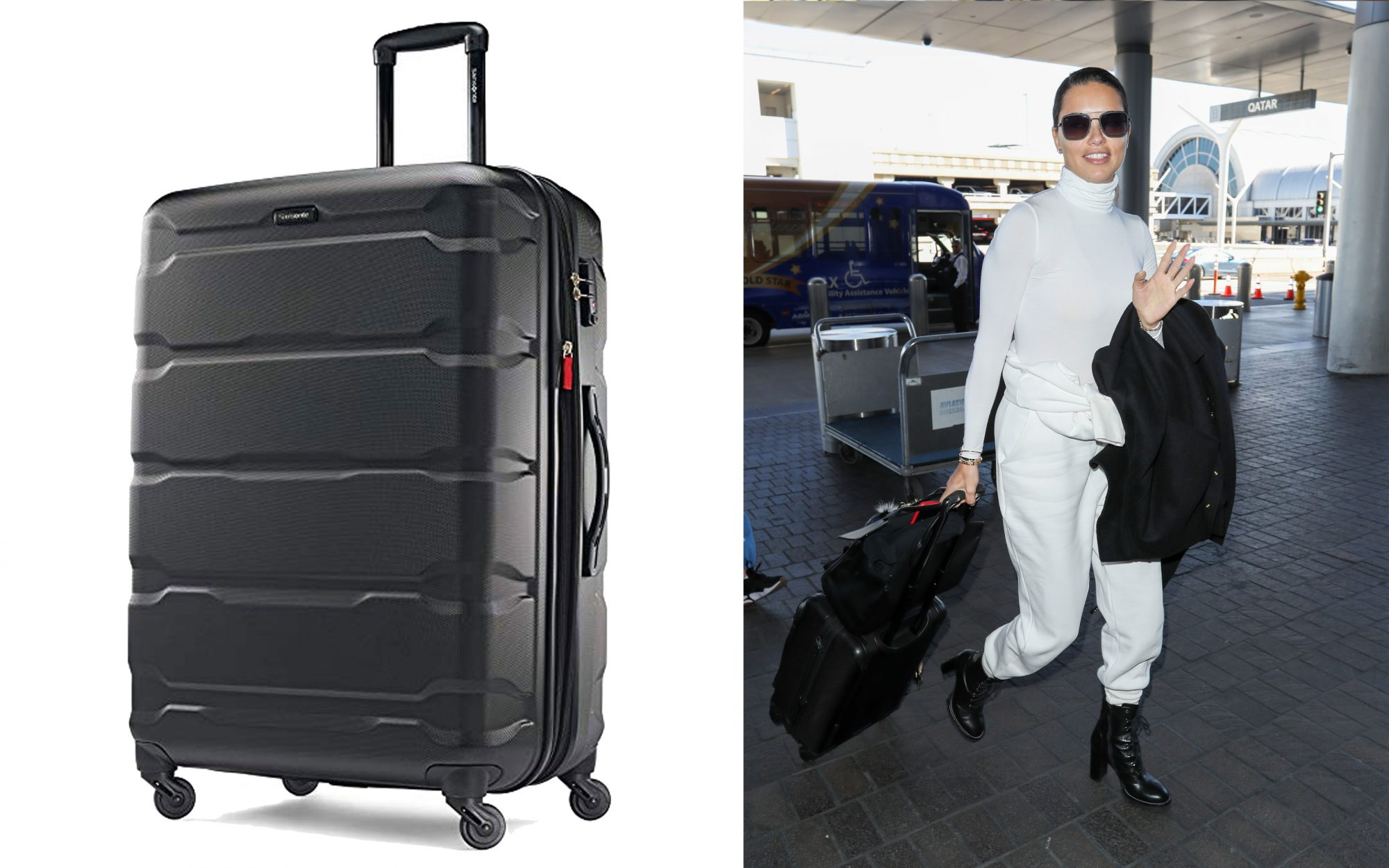 Adriana Lima Samsonite Luggage