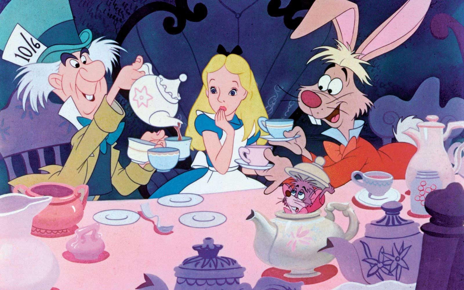 Animated scene from ALICE IN WONDERLAND