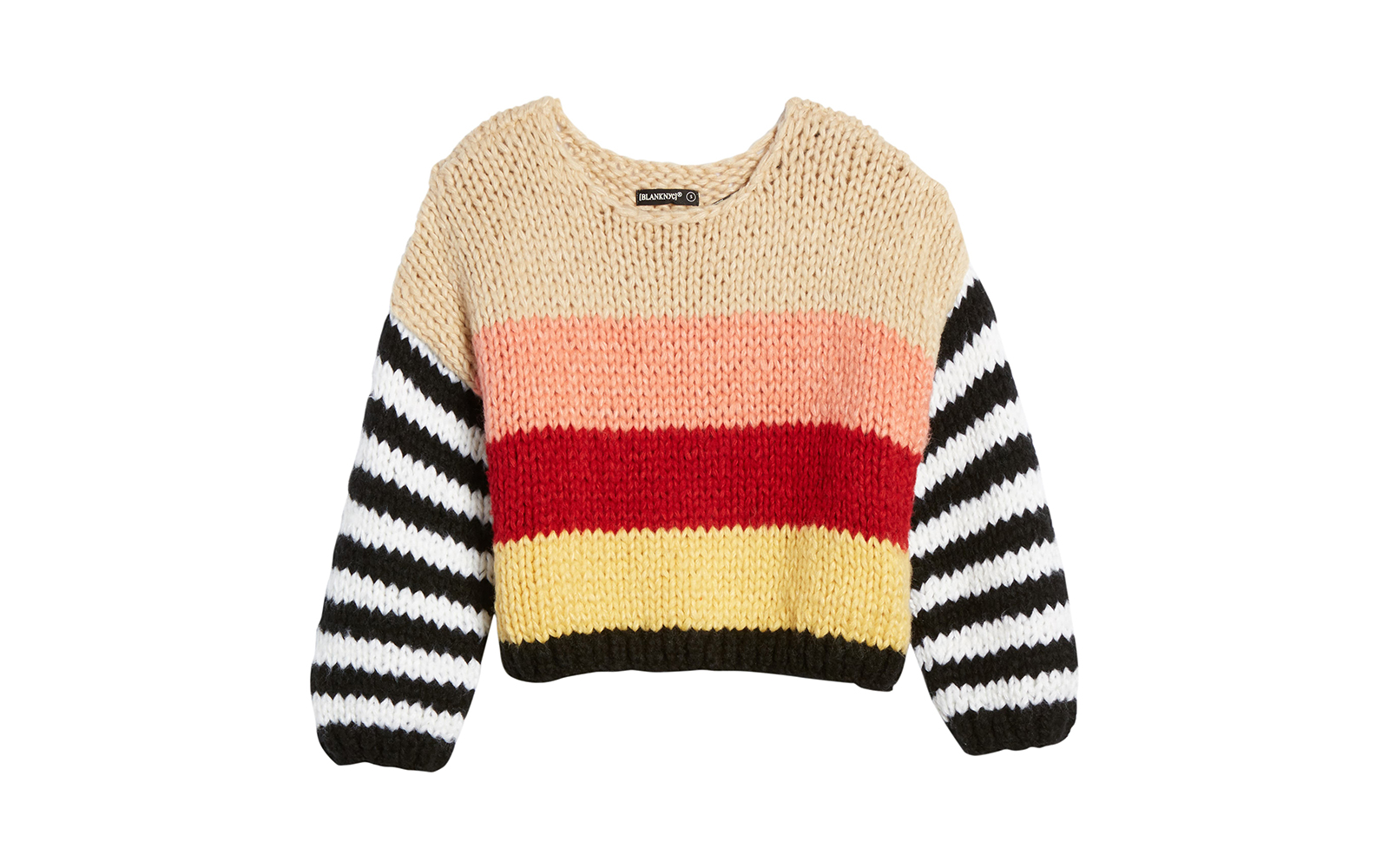BLANKNYC Sweetheart Stripe Sweater