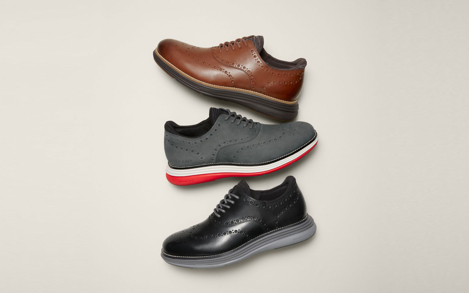 Three Men's Oxford Shoes in Different Colors