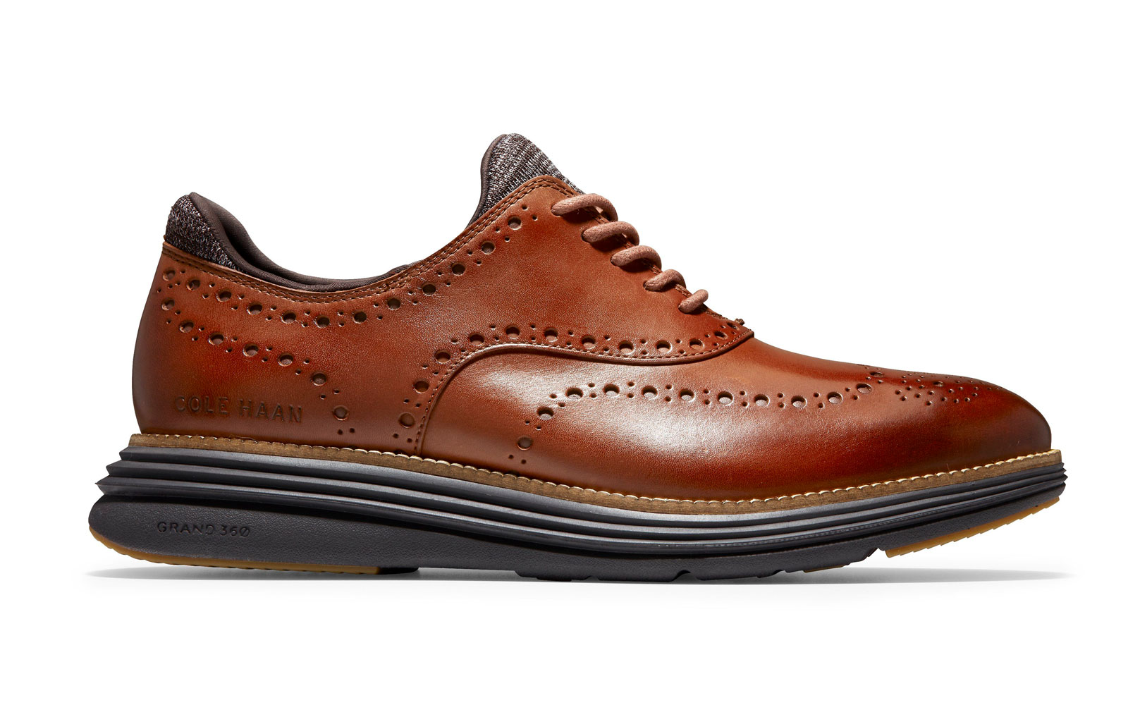 Brown Leather Wingtip Oxfords