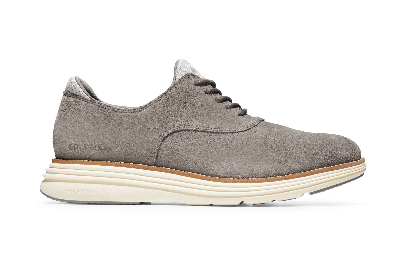 Grey Suede Oxfords