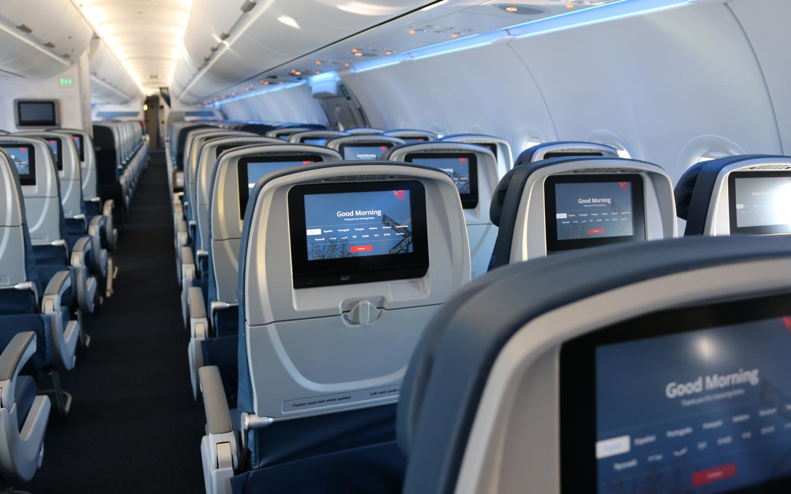 Delta Air Lines airplane cabin