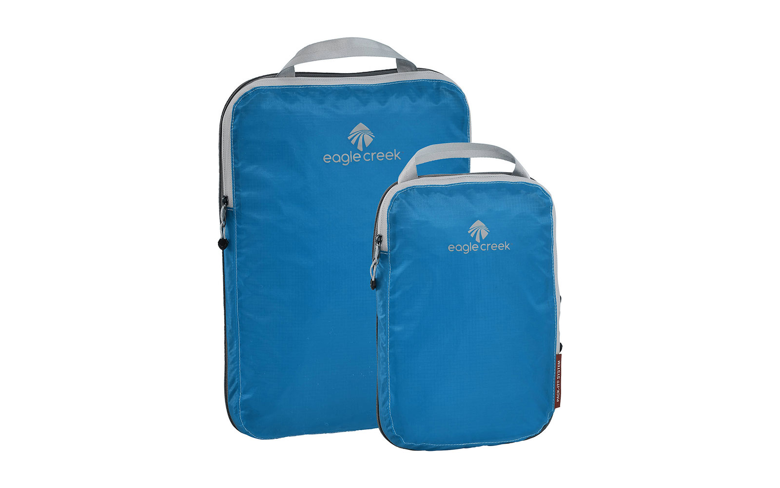 Blue compression packing cubes