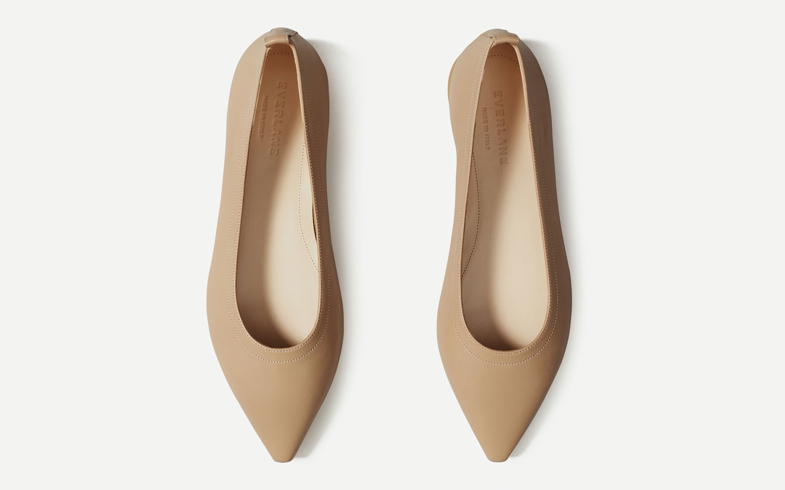 Top of Taupe Leather Flats