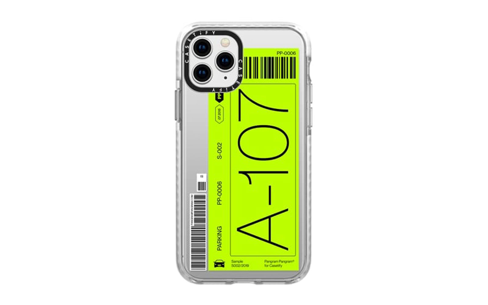 Neon Green Ticket-style Phone Case