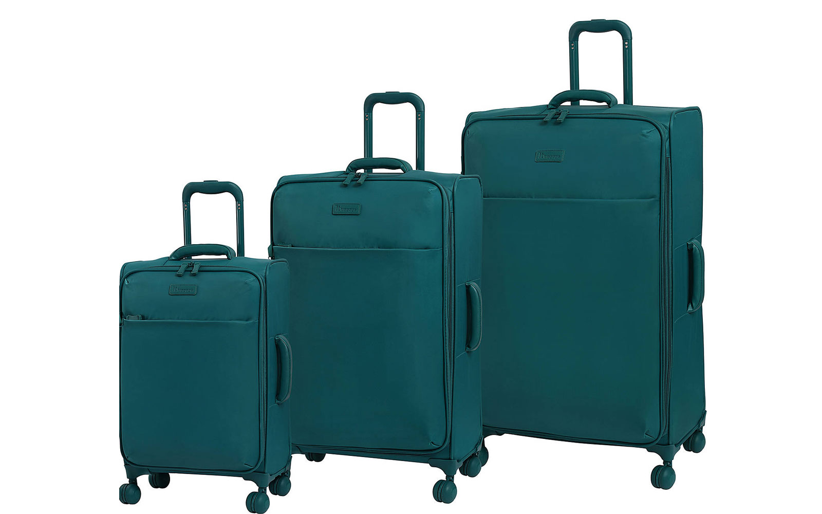 Set of Three Teal Softside Suitcases