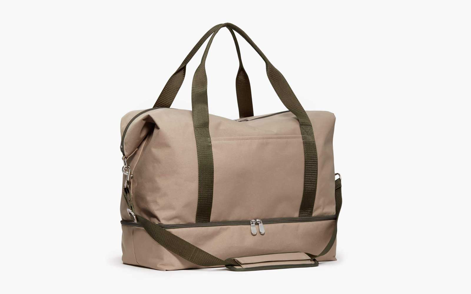 Tan Canvas Weekender Bag